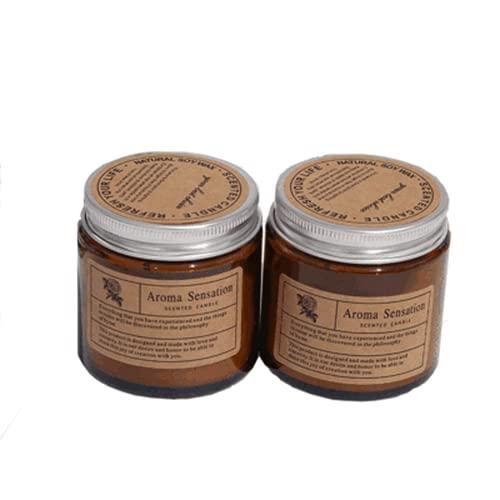 QQY Vela perfumada de 2,4 pulgadas vertida a mano, vela de cera de soja natural de boticario para apoyar la hora de acostarse y el sueño reparador (Carillón de viento azul, 2,4 x 2,5 pulgadas)