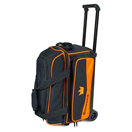 Brunswick Unisex-Erwachsene Zone Double Roller Orange Bowlingtasche