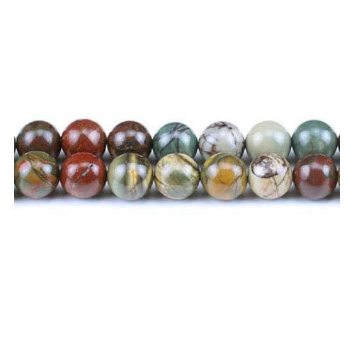 Filo 45+ Misto Diaspro Picasso 8mm Tondo Perline GS1467-2 (Charming Beads)