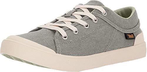 Teva Women's Freewheel Washed Canvas Sneaker, Desert Sage, 10 Medium US