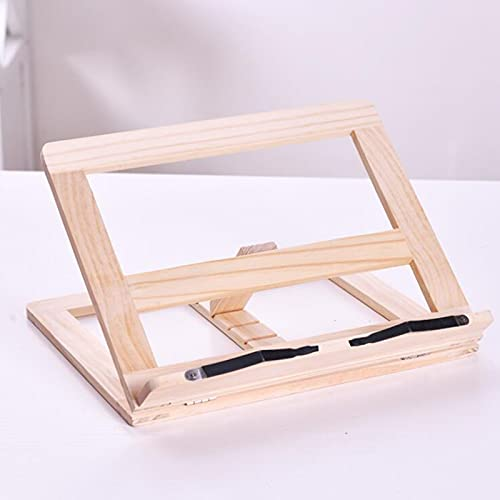 Wooden reading shelf, large creative bookend book holder reading shelf, tablet shelf recipe book shelf, suitable for various places such as kitchens, bedrooms, etc.