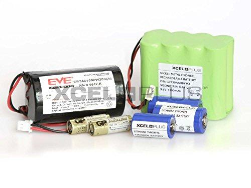 Visonic Extended Life PowerMax+ PRO - Batería de alarma (0-9912-L, 0-9912-K y sensores (completa con 1 batería de sirena)