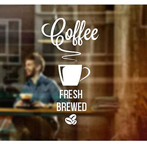 Frisch Gebrühter Kaffee Zum Mitnehmen Cafe Shop Vinyl Aufkleber Fenster Zeichen Dekoration Kunst Removbale Tasse Zeichen Für Shop Logo Dekor30X55Cm