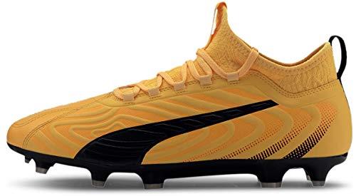 Puma Men's One 20.3 FG/AG Soccer Shoe, 8.0 M, Ultra Yellow/Black/Orange