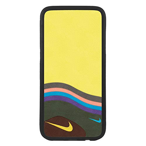 afrostore Custodia Cover per Apple iPhone 5c Logo Nike Simula Tessuto Logo TPU Bordo Nero