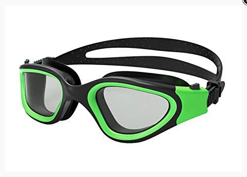 LIWEIXKY Schwimmbrille Antibeschlag Hochauflösende Beschichtung Professionelle Universalgläser mit großem Rahmen für Erwachsene Polarisierte Lichtbrille einstellbar D.