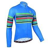 BXIO Bike Wear Autunno, Maglia da Ciclismo per Uomo, Jersey Traspirante Abbigliamento Sportivo da Ciclismo (Blue(151), 4XL)