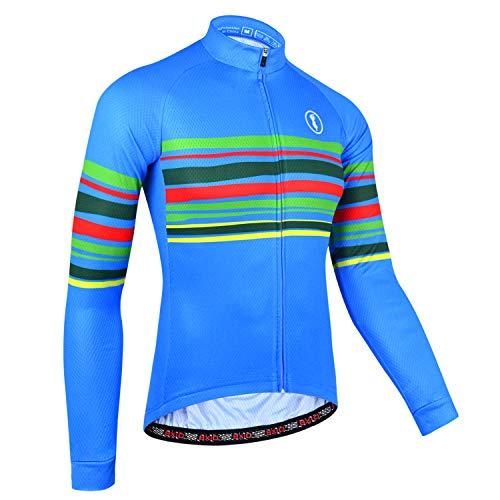 BXIO Bike Wear Autunno, Maglia da Ciclismo per Uomo, Jersey Traspirante Abbigliamento Sportivo da Ciclismo (Blue(151), XL)