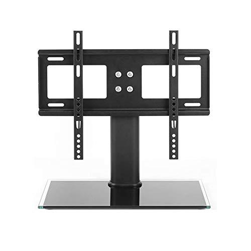 CUIJU Soportes para TV con Base de Vidrio Soporte para TV de Mesa de Piso para instalación en 42 Pulgadas LCD LED OLED Plasma Pantalla Plana o Curva VESA 400 x 300 mm, Negro