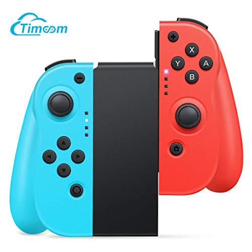 Controller Wireless Per Nintendo Switch,Timoom Joystick Gamepad Bluetooth Sostituzione per JoyCon,Doppio shock Giroscopio a 6 Assi,Compatibile Nintendo Switch Pro
