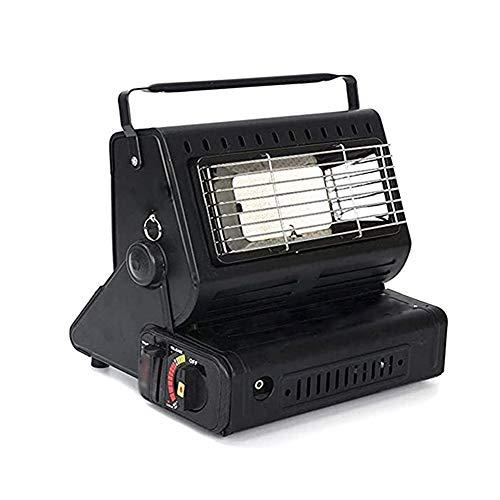 Z&LEI Calentador de Espacio, Calentador de Gas portátil Multifuncional al Aire Libre Portátil Mini Tiendas de campaña Estufa de asado a Domicilio,Negro