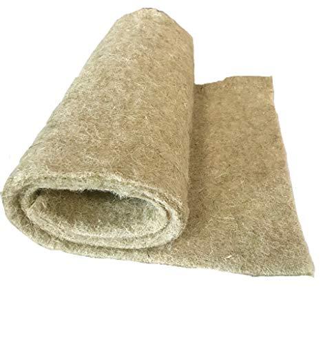 Anzuchtmatte aus 100% Hanf, 100 x 40 cm, ca. 1 cm dick (11,90€/Stück), Matte geeignet zur Anzucht von z.B. Kresse und Keimsprossen (Microgreens), 100% biologisch abbaubar, Hanfmatte