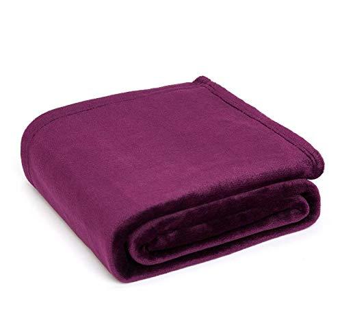 MSYOU Bettdecke, warm, flauschig, einfarbig, Samt-Decke für Sofa und Bett