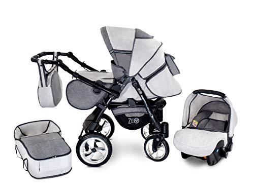 Zeo Rio Kinderwagen Kombikinderwagen Babywagen 3in1 mit Zubehör 0-3 Jahre 0-15 kg All in One (R8)