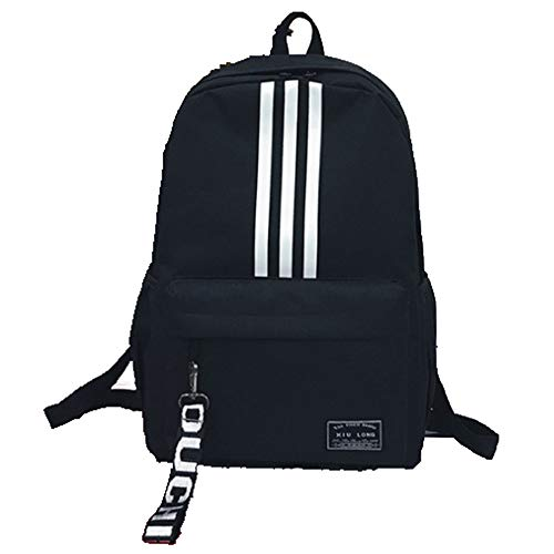 New Canvas Shoulder Bag Korean Fashion Trend high School Students Backpack Female Travel Bag Black 28X14X43CM