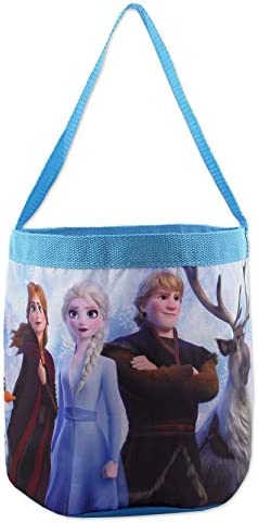 Frozen 2 Elsa Anna Girls Collapsible Nylon Gift Basket Bucket Toy Storage Tote Bag One Size product image