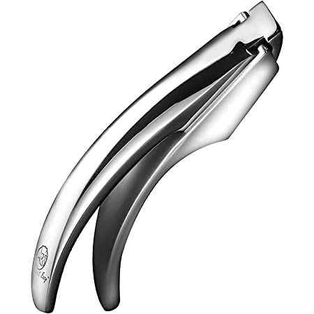 Garlic Press Stainless Steel - No Need To Peel Scandinavian Design Detachable for Easy Cleaning - Garlic Mincer Tool - Best Ginger, Garlic Presser - Garlic Crusher with 5 Year Unconditional Warranty