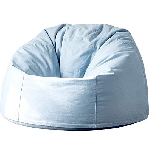 MxZas Haushaltsliege Sofa Couch Liege High Back Bohn Bagstuhl Großer Buttersackstuhl für Erwachsene und Kinder Bohnenaufbewahrungstasche (Color : Haze Blue, Size : One Size)