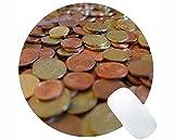Yanteng Alfombrilla de ratón Redonda de Goma Antideslizante, Alfombrillas de ratón Redondas de Monedas de dólar