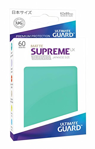 Ultimate Guard Supreme Japanese UX Card Sleeves (60 Piece), Matte Turquoise