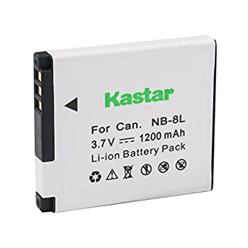 Kastar Battery  1-Pack  for Canon NB-8L and CB-2LAE Work with Canon PowerShot A2200 A3000 is A3100 is A3200 is A3300 is Cameras