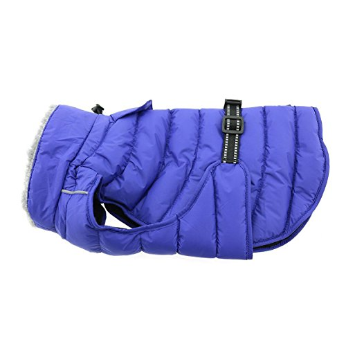Alpine Extreme Weather Dog Puffer Coat (X-Small, Navy Blue)