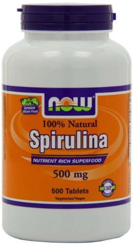 Now Foods Spirulina 500mg, Tablets, 500-Count (Pack of 3 (500 tabs ea))