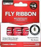Eliminator 4 Pack Fly Ribbon, Non-Toxic,...