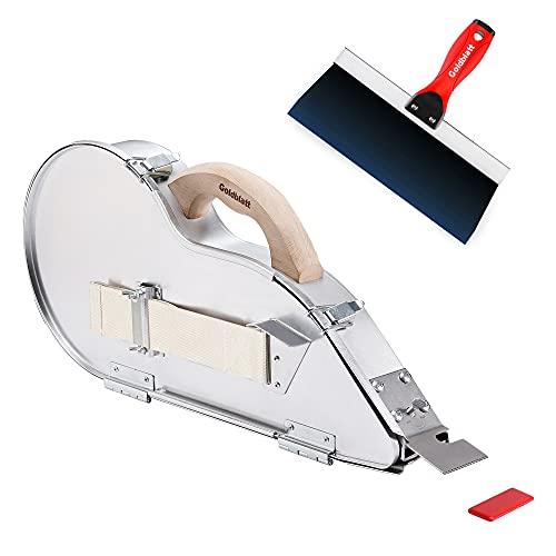 Goldblatt Banjo-Wet Tape Set Drywall Taping Tools with 10