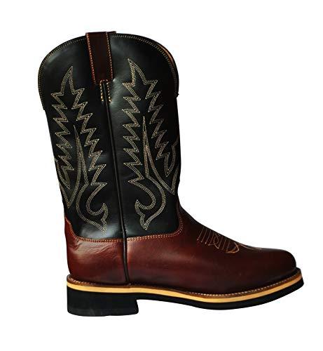 Gr 41 Western Stiefel Reitstiefel Westernboot Cowboystiefel Schwarz braun