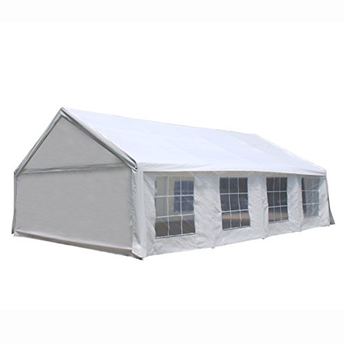 ALEKO PWT2030 Outdoor Event Gazebo Canopy Tent with Sidewalls and Windows 20 x 30 x 10 Feet White