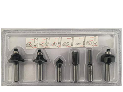 Parkside Set di 6 frese per fresatrice verticale POF 1200 A1 LIDL IAN 100129, per legno