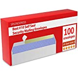Mailing Envelopes Self Seal - #10 Security White Letter Businesses Envelopes -100 Peel and...