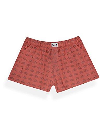 Degree Clothing Herren Boxershort - King Eichel - rot aus Bio Baumwolle Fair
