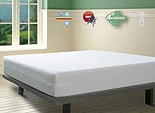 SAVEL - Funda de Colchón con Tratamiento Antiácaros Impermeable y Transpirable | (150 x 190/200cm | Altos hasta 30cm