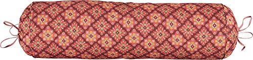PIP Studio Poppy Stitch - Cojín cervical (22 x 70 cm), color rojo