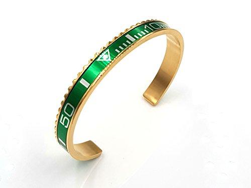 Chronometer goud groen groen lunette submariner GMT armband bangle armband