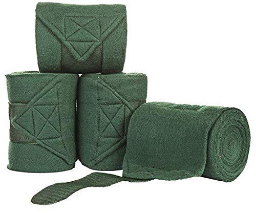 HKM Polarfleecebandagen, grün, 300 cm