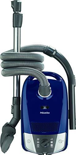 Miele 10886650, Compact C2 Powerline Bodenstaubsauger mit Beutel, 890 Watt Leistung und 11 m Aktionsradius/dreiteiliges Zubehör/kompakter, Leichter Staubsauger/blau, Marineblau, W
