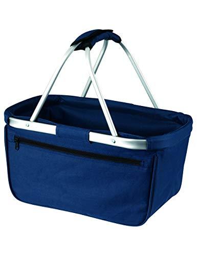 Faltbarer Shopper Basket Einkaufskorb in marine aus 100% Polyester