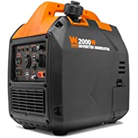 WEN 56203i Super Quiet 2000-Watt Portable Inverter Generator with Fuel Shut Off