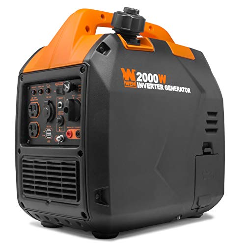 WEN 56203i Super Quiet 2000-Watt Portable Inverter Generator w/Fuel Shut Off, CARB Compliant, Ultra Lightweight