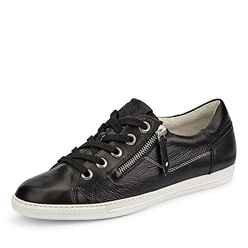 Paul Green 4940 026 Damen Sneaker aus Glattleder mit Lederinnenausstattung Uni, Groesse 39, schwarz