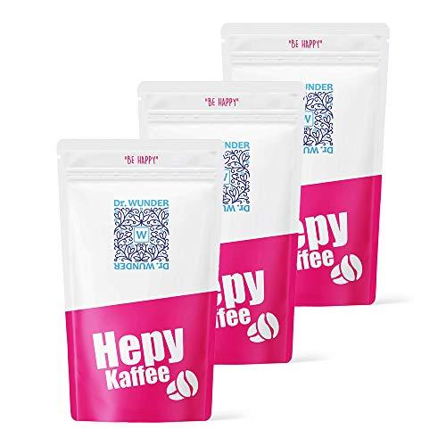 Dr. Wunder® Hepy-Einlaufkaffee 3er-Pack | 3 x 250g: Grüner/Goldener Spezial-Kaffee | besonders hoher Gehalt an Koffein und Palmitinsäure | ideal für Kaffee-Einläufe