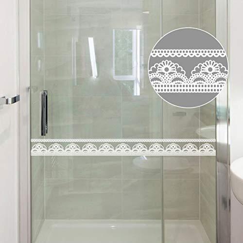 Pegatinas de encaje blanco transparente con borde extraíble para decoración de bordes de papel pintado con patrón de...