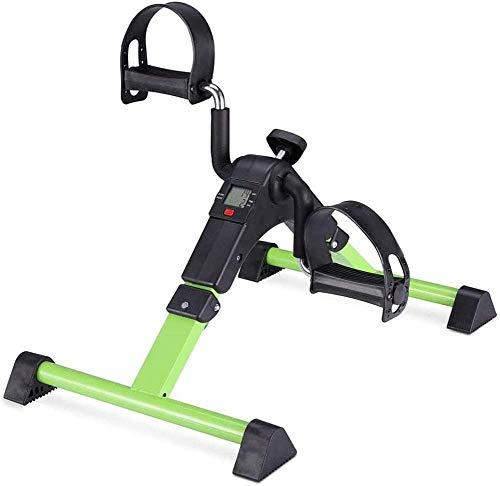 Hammer Pedal plegable ejercitador, Bajo Ciclo turística, Terapia Física pierna y el brazo Exercisers Venda puerta a puerta, Mini estacionaria, bicicleta estática LCD portátil Pedal Brazo ejercitador I
