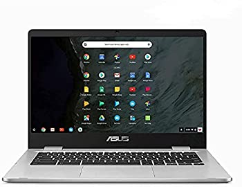 2021 Newest_ASUS Chromebook 14  Laptop Computer for Student Intel Celeron N3350 up to 2.4GHz 4G RAM 128G Storage  64GB eMMC SSD+64G SD Card  WiFi Webcam Online Class Ready