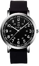 TICCI Unisex Men Women Medical Quartz Watch Arabic Numerals Military Time Easy Read Dial Silicone Band Waterproof for Students Doctors Nurses (Black Black-1)