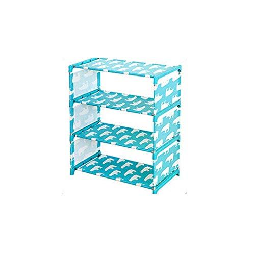 SHSM Modern Shoe Rack 4 Tier Shelf Shoe Storage Rack Organizador para 12 Pares de Zapatos pasillo/Azul