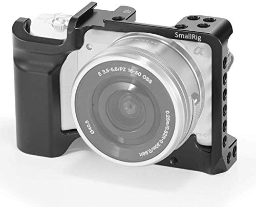 SMALLRIG Camera Cage Compatible with Sony A5000 / A5100 with Cold Shoe, 1/4'' and 3/8'' Threaded Holes – 2226
